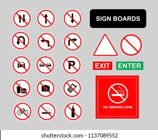 Vector Sign Boards