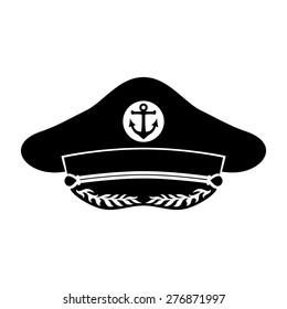 Vector sign. Captain's hat.