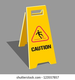 Vector sign caution