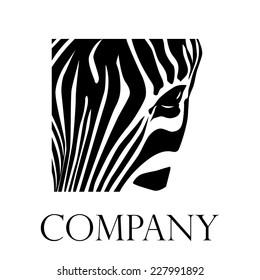 Vector sign Closeup zebra