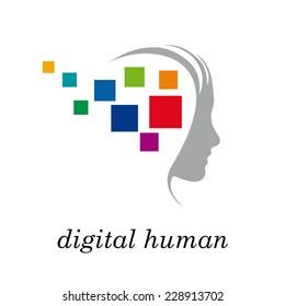 Vector sign digital generation, head and pixel