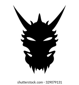 Vector sign. Dragon head.