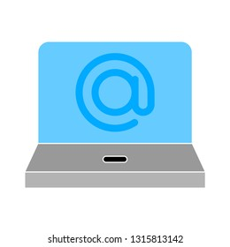 vector at sign. email icon - contact us icon