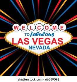 Vector Sign Of Fabulous Las Vegas