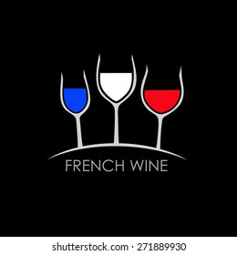 Vector sign french wine