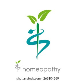 Vector sign homeopathy, alternative medicine