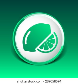 Vector sign Lemon logo unusual stylized slice agriculture.