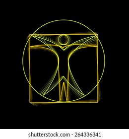 Vector sign Leonardo da Vinci
