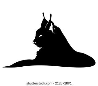 lynx silhouette images stock photos vectors shutterstock