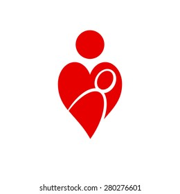 Vector sign mother's heart