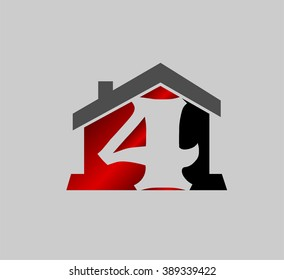 Vector sign number 4 logo