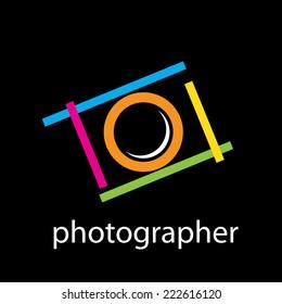 Vector sign photographer