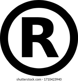 vector sign of a registered trademark