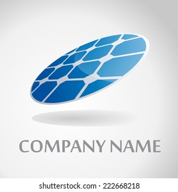 Vector sign round solar panel