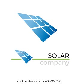 Vector sign solar panel, green energy and renewable