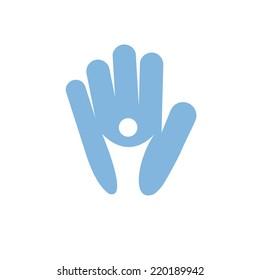 Vector sign Solidarity for Children