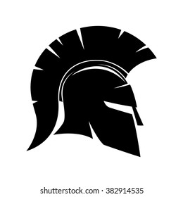 Vector sign. Spartan helmet.