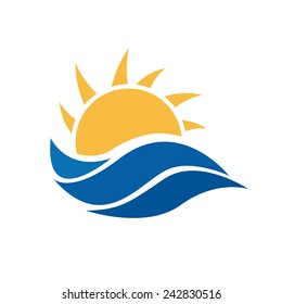 vector sign sun and sea