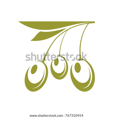 Vector Sign Symbol Olives Olive Oil Stock Vector Royalty Free