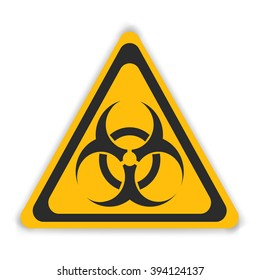 Vector sign toxic isolated. Symbol Warning toxic. Radiation nuclear sign.