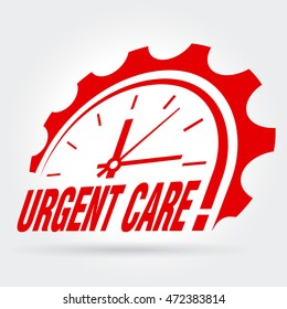 Vector sign - Urgent care!