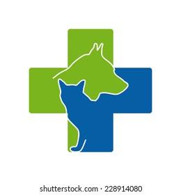 Vector sign Veterinary