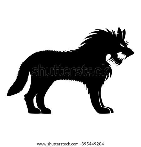 84b301547 Vector Sign Werewolf Stock Vector (Royalty Free) 395449204 ...