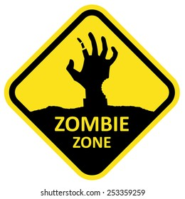 Vector sign zombie zone. Format eps 10