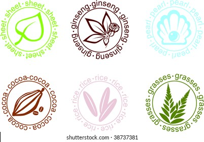 Vector signs on plants