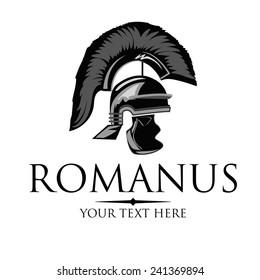 Vector silhouette of an ancient Roman helmet