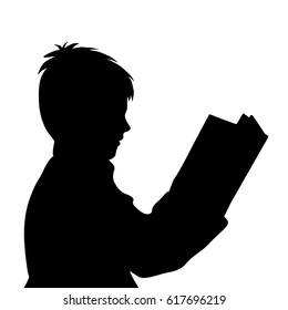 Reading Book Silhouette Images Stock Photos Vectors