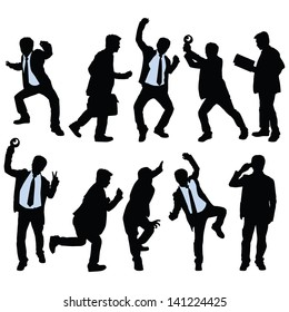 Vector silhouette of business people