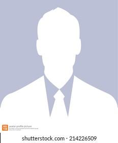 Vector silhouette Businessman icon avatar profile picture