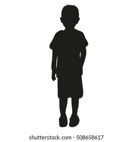 vector, silhouette child, silhouette of a boy