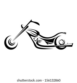 vector Silhouette of classic motorcycle