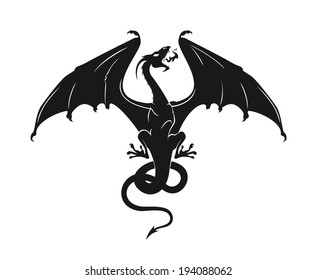 vector silhouette of the dragon