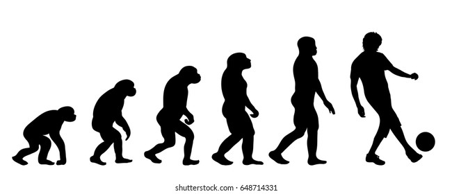 Vector silhouette of evolution of man.