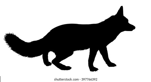 Vector silhouette of the Fox.