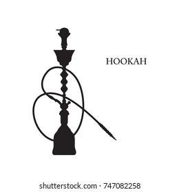 Vector silhouette of hookah