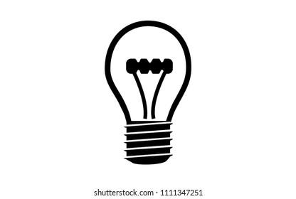 Vector silhouette image of a lightbulb
