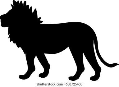 Vector silhouette of lion