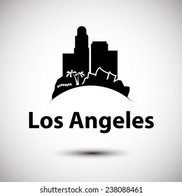 Vector silhouette of Los Angeles