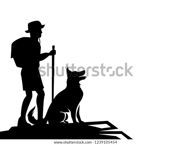 View Dog Walk Vector
