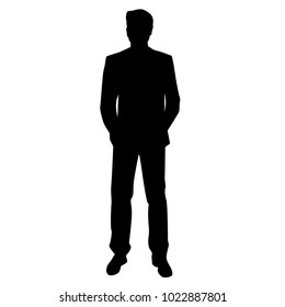 mypuzzledesign business man standing silhouette in - 260×280