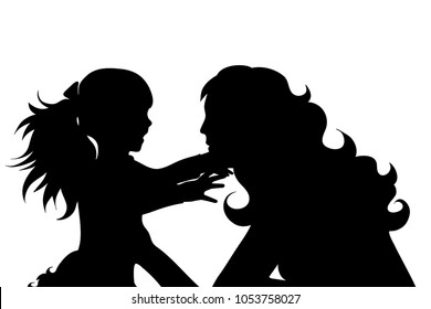 Mother And Daughter Drawing Images Stock Photos Vectors