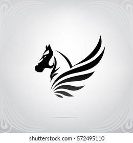 Vector silhouette of Pegasus
