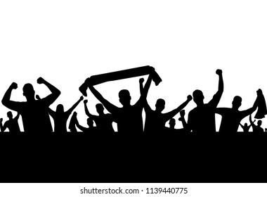vector of silhouette sport supporter