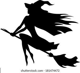 picture relating to Witch Silhouette Printable titled Witch Silhouette Pics, Inventory Pictures Vectors Shutterstock