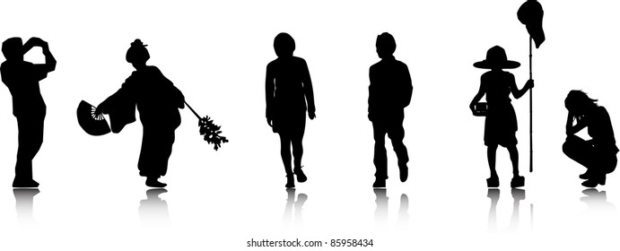 Vector Silhouettes.