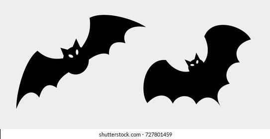 Vector silhouettes of bats.Halloween.